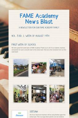 FAME Academy News Blast