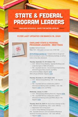 State & Federal Program Leaders