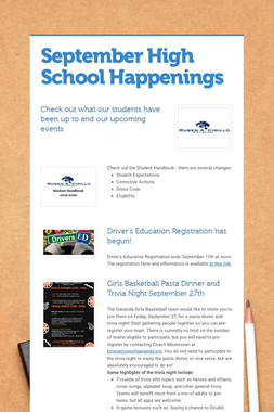 September High School Happenings