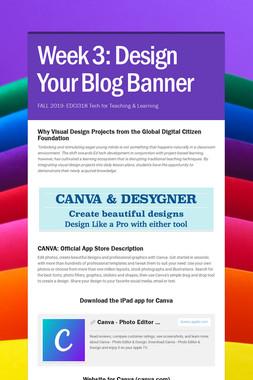 Week 3: Design Your Blog Banner