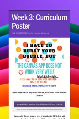 Week 3: Curriculum Poster