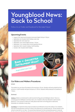 Youngblood News: Back to School