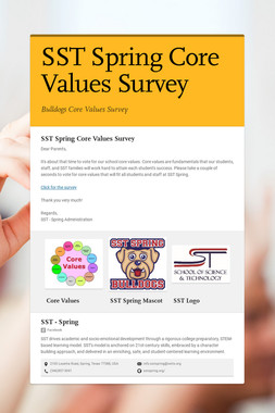 SST Spring Core Values Survey
