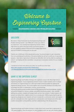 Welcome to Engineering Capstone
