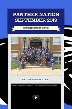 Panther Nation September 2019