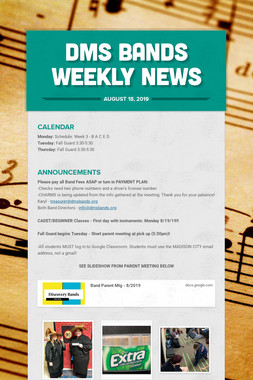 DMS Bands Weekly News