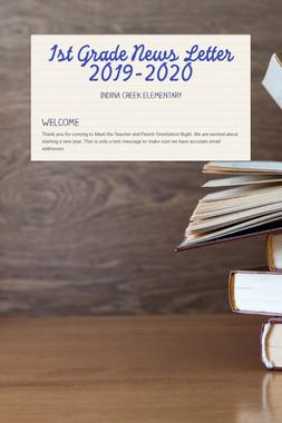1st Grade News Letter 2019-2020