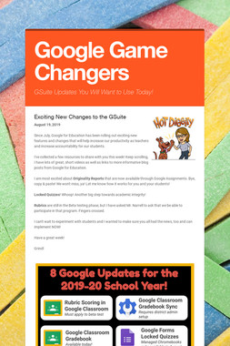 Google Game Changers