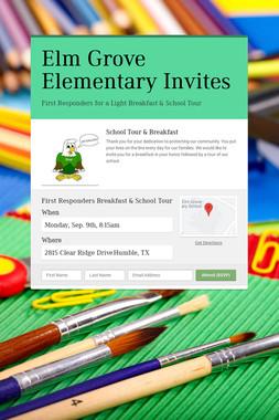 Elm Grove Elementary Invites