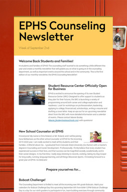 EPHS Counseling Newsletter
