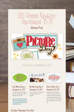 LHS Weekly Update: September 15-21