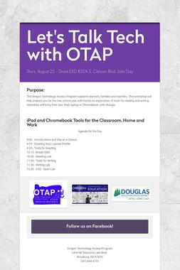 Let's Talk Tech with OTAP