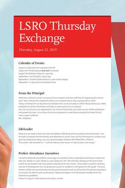LSRO Thursday Exchange
