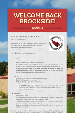 Welcome Back Brookside!