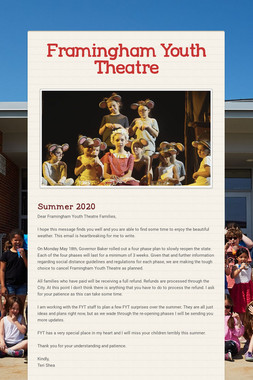Framingham Youth Theater Company!