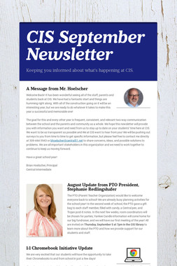 CIS September Newsletter