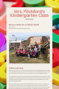 Mrs. Pitchford's Kindergarten Class