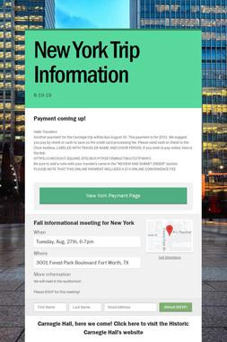 New York Trip Information