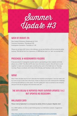 Summer Update #3