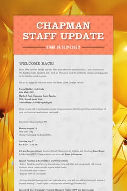 Chapman Staff Update
