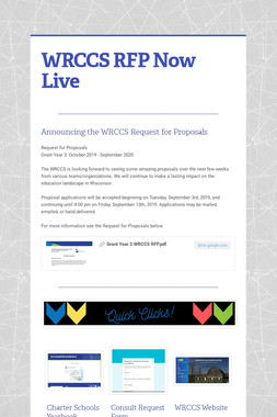 WRCCS RFP Now Live