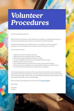 Volunteer Procedures