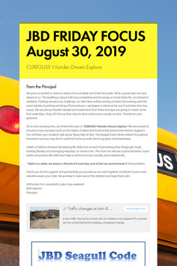 JBD FRIDAY FOCUS  August 30, 2019