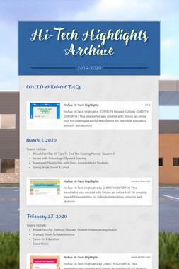 Hi-Tech Highlights Archive