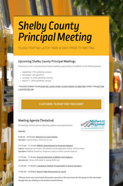 Shelby County Principal Meeting