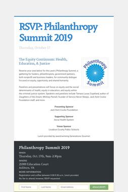 RSVP:  Philanthropy Summit 2019