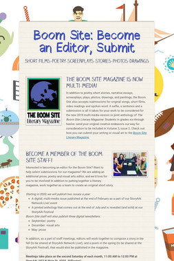 Boom Site: Become an Editor, Submit