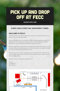 Pick up and Drop off at FECC