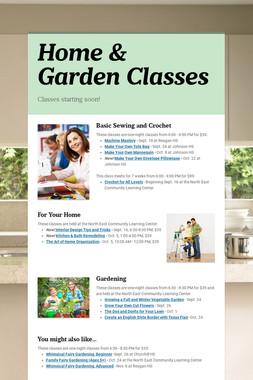 Home & Garden Classes