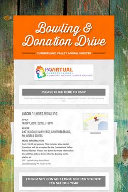 Bowling & Donation Drive