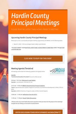Hardin County Principal Meetings