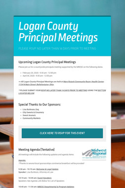 Logan County Principal Meetings