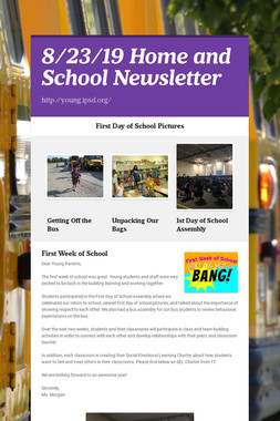 8/23/19 Home and School Newsletter