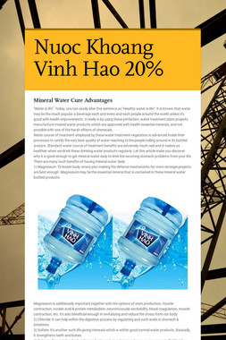 Nuoc Khoang Vinh Hao 20%