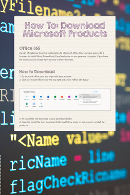How To: Download Microsoft Products