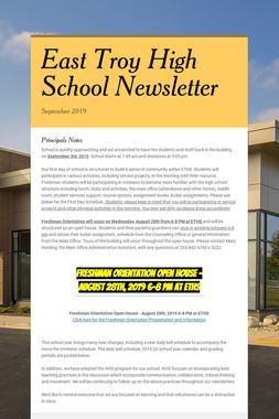 East Troy High School Newsletter