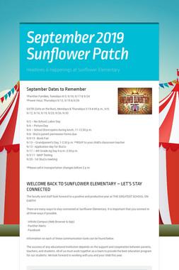 September 2019 Sunflower Patch