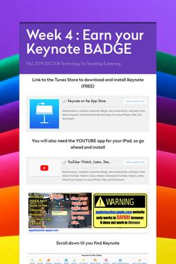 Week 4 : Earn your Keynote BADGE