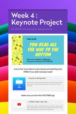 Week 4 : Keynote Project