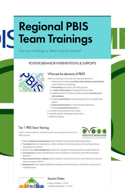 Regional PBIS Team Trainings