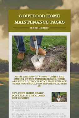 8 Outdoor Home Maintenance Tasks