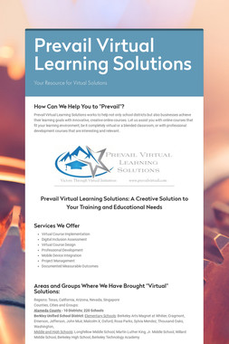 Prevail Virtual Learning Solutions