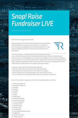 Snap! Raise Fundraiser LIVE