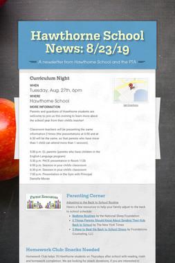 Hawthorne School News: 8/23/19