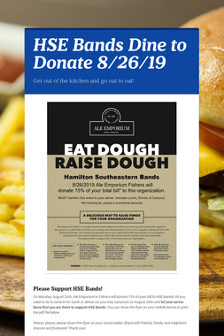 HSE Bands Dine to Donate 8/26/19