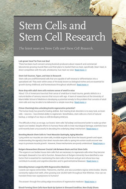 Stem Cells and Stem Cell Research